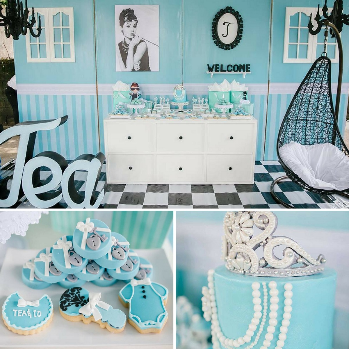 Breakfast At Tiffanys Baby Shower Tea Party Baby Shower Ideas