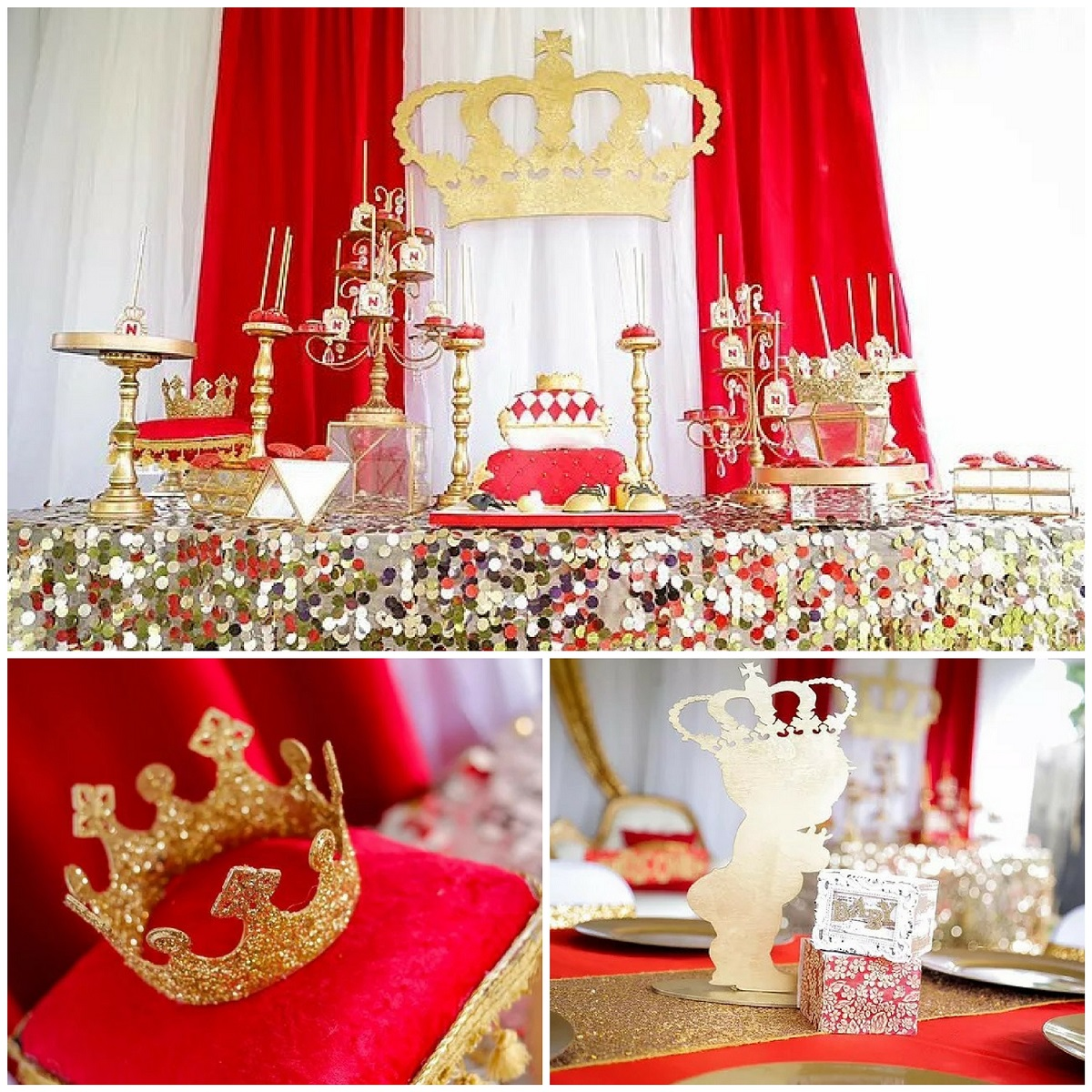 red and gold royal affair baby shower baby shower ideas themes